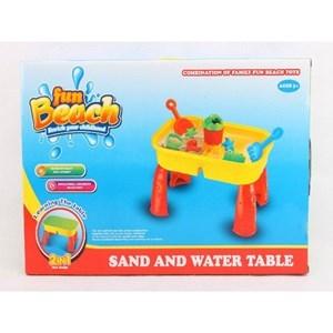 Imagen de Mesa con accesorios para jugar con arena o masas de modelar, en caja