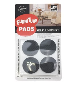 Imagen de Base antidezlizante para muebles, de goma EVA,  autoadhesivas, x8 unidades, en blister