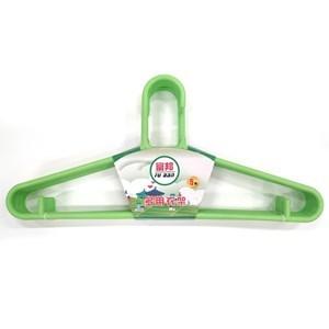 Imagen de Percha de plástico, pack x5, varios colores