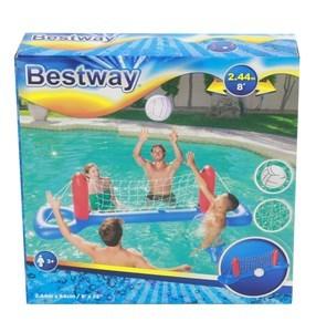 Imagen de Red de voleibol con base inflable con pelota, en caja, Bestway