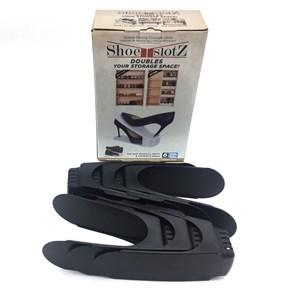 Imagen de Organizador de zapatos de plástico, para 6 pares, en caja, varios colores