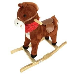 Imagen de Mecedora de madera caballito, chico, con sonido y movimiento, 3AA