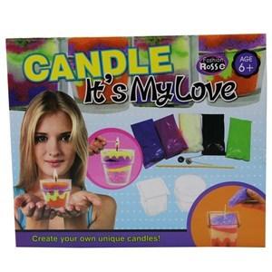 Imagen de Fábrica de velas, cera de colores, recipientes y accesorios, en caja