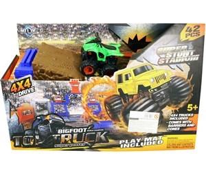 Imagen de Auto a fricción, con pista de carreras, 42 piezas, en caja