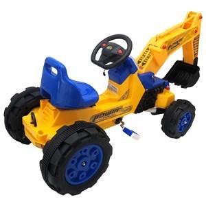 Imagen de Máquina de construcción, pala retroexcavadora, a pedal, con luz y sonido, 2AA, en caja
