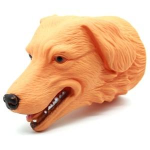 Imagen de Títere de goma, cabeza de perro, en red