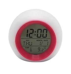 Imagen de Despertador digital con luz led, cambia de color, alarma con sonidos de la naturaleza, 3AAA, en caja