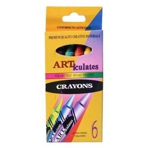 Imagen de Crayolas finas 6 colores, en caja