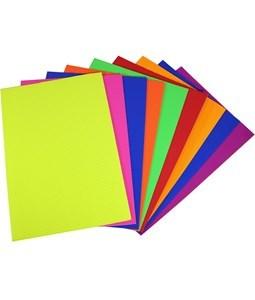 Imagen de Hojas A4, cartón corrugado flúo, bolsa x10 colores