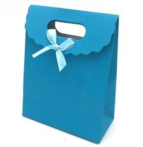 Imagen de Bolsa de regalo lisa, con moña, PACK x12, varios colores