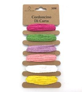Imagen de Hilo para embalar 6 colores en cartón, pack x12