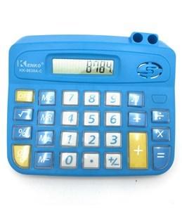 Imagen de Calculadora de mesa KENKO, 8 dígitos, con portalápices, 1AA, varios colores, en caja