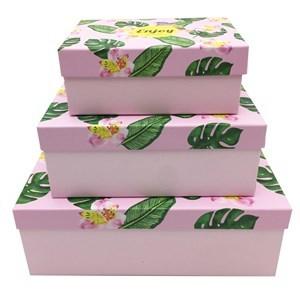 Imagen de Cajas forradas, set x3, varios diseños
