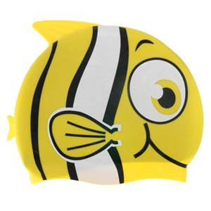 Imagen de Gorra para natación de silicona, con diseño, en sobre de PVC, varios colores