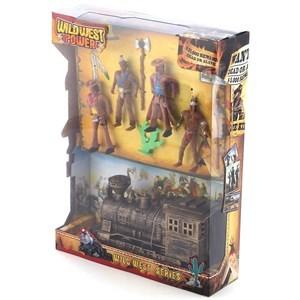 Imagen de Indios y cowboys, con tren y accesorios, en caja