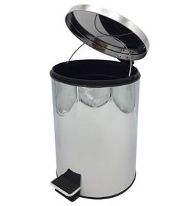 Imagen de Papelera de metal 12L con pedal, en caja
