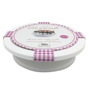 Imagen de Base giratoria de plástico, 28cm, para presentar o decorar tortas