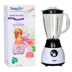 Imagen de Licuadora 1.5L, 4 velocidades y mini procesadora o molinillo de café y semillas, 300W, Sonifer, en caja, 2 colores