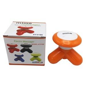 Imagen de Masajeador mini, 3 puntas, portátil, cable USB y 3AAA, varios colores, en caja