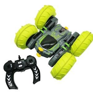 Imagen de Auto con control remoto, inflador para ruedas, luz, giro de 360°, batería recargable +2AA, en caja