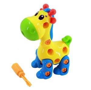 Imagen de Arrastre jirafa desarmable, con herramientas, varios colores, en bolsa