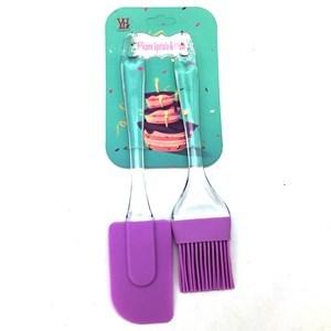 Imagen de Espátula y pincel de silicona, en cartón, varios colores