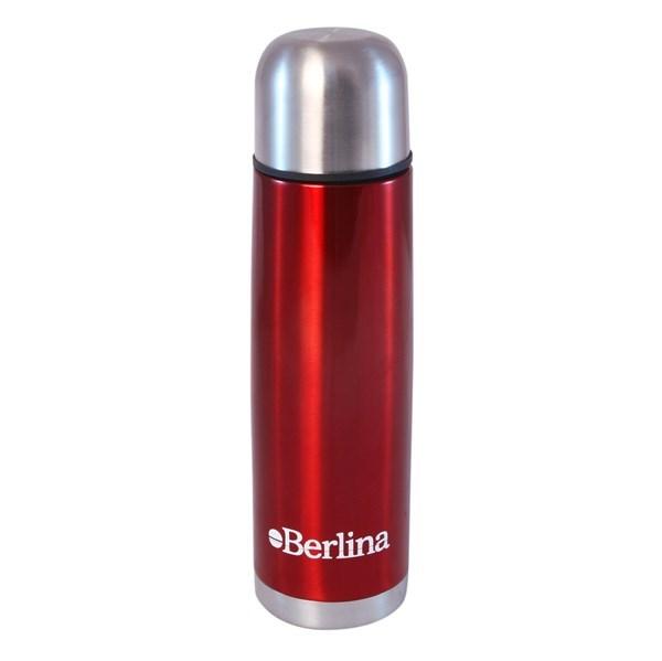 """Imagen de Termo 500cc bala color ROJO, pico botón, base antideslizante, """"Berlina"""""""