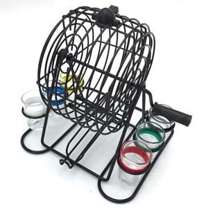 Imagen de Bingo con 6 shots, bolillero de metal, en caja