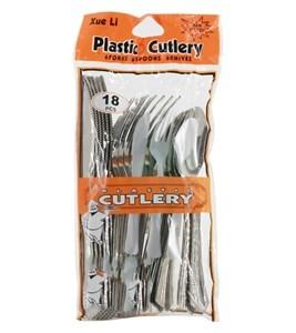 Imagen de Descartable, cubiertos de plástico, surtidos bolsa x18