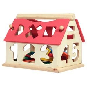 Imagen de Encastre casa de madera con varias formas, en caja