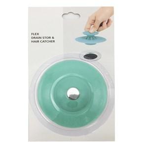 Imagen de Tapón y rejilla de silicona para pileta o bacha, en blister, varios colores