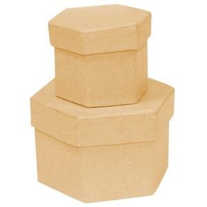 Imagen de Caja cartón, hexagonal x2, para decorar