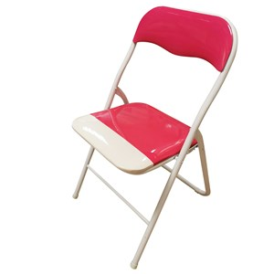 Imagen de Silla de metal plegable, asiento y respaldo acolchonado
