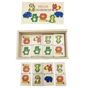 Imagen de Dominó de madera, 28 piezas, en caja de madera, varios modelos