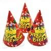 Imagen de Gorros de cartón para cumpleaños, pack x6, varios diseños