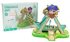 Imagen de Puzzle barco pirata 3D 51 piezas, con luz y sonido, 2AA, en caja