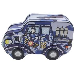 Imagen de Alcancía de metal, con forma de auto, con candado, 4 colores