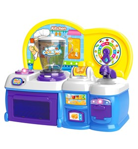 Imagen de Electrodomésticos, cocina, licuadora, pileta y accesorios, con luz, 2AA, en caja