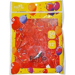 "Imagen de Globo 12"" FILIPPO rojo, bolsa x50"