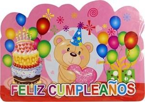 Imagen de Tarjeta invitación para cumpleaños x8, con sobre, en bolsa