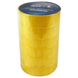 Imagen de Cinta adhesiva Matpack 50ys x25mm, para cintero, PACK x6 rollos