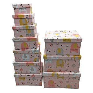 Imagen de Cajas forradas, set x10, varios diseños