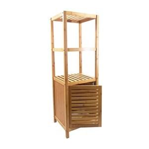 Imagen de Mueble de bambú 2 estantes, con puerta, en caja
