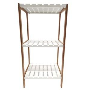 Imagen de Mueble estantería de bambú y MDF, 3 estantes, en caja