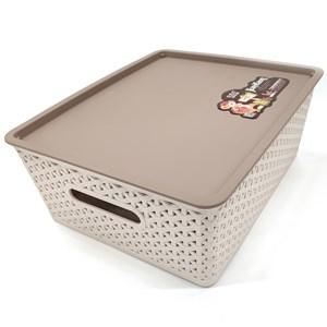 Imagen de Caja organizadora de plástico, con tapa, 29x13x35cm