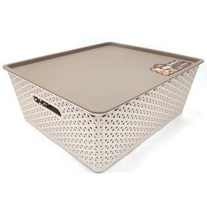 Imagen de Caja organizadora de plástico, con tapa, 34x16x40cm