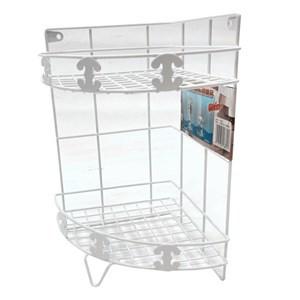 Imagen de Organizador de metal esquinero, revestimineto plástico, 2 estantes