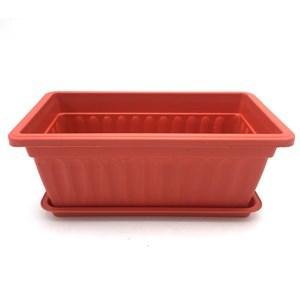 Imagen de Maceta de plástico, 67x18x15, con plato