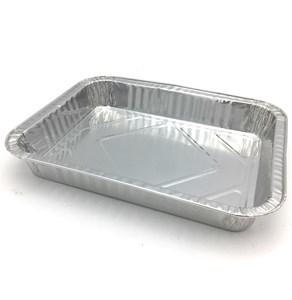 Imagen de Bandeja de papel aluminio rectangular, descartable, pack x4