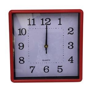 Imagen de Reloj de pared, 25cm de lado 4 colores, en caja